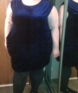 Blue Velvet Dress on me