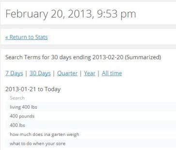 Screenshot of my stats
