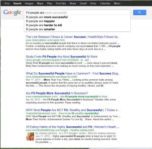 """Google for """"fit people are"""""""