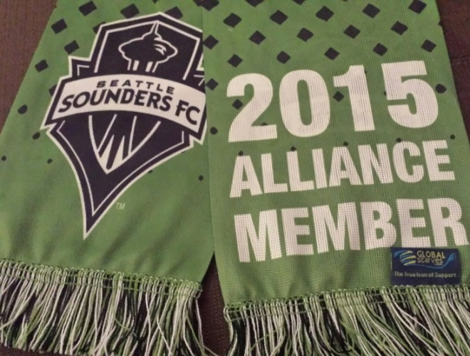 Major League Soccer (Football to the rest of the world) has scarves. It's a Football thing.